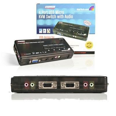 4 Port Mini USB KVM Kit