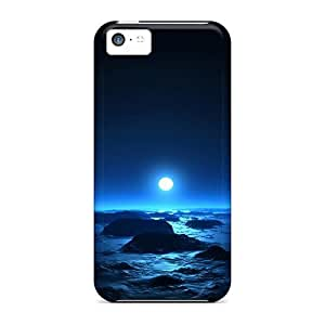 For Williams6541 Iphone Protective Case, High Quality For Iphone 5c Moon Night Skin Case Cover wangjiang maoyi
