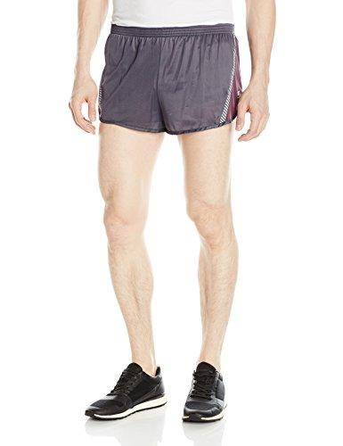 Soffe Men's Ultra Marathon Short, Steel/purple, Small