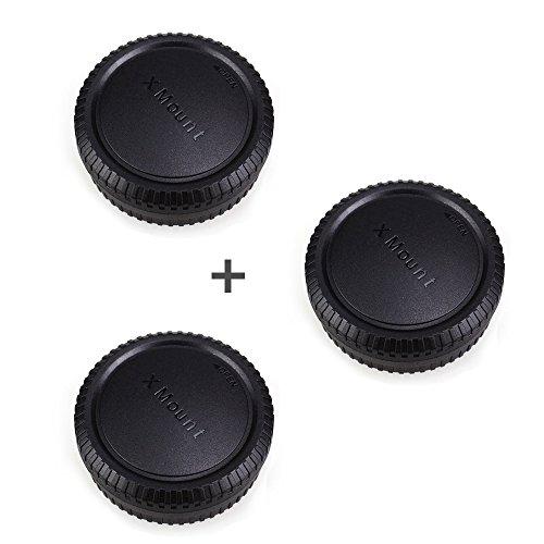 Rear Lens Cap & Body Cap JJC Rear Lens Cover Body Cover for Fuji Fujifilm X-T20 X-T10 X-T1 X-T2 X-PRO1 X-PRO2 X-A10 X-A X-A3 X-A2 X-A1 X-H1 X-E3 X-E2s X-E2 X-E1,etc Fit for Fujifilm X Mount -3 Pack