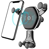 Wireless Car Charger, Miya Baby Fast Charging Mount Adjustable Gravity Air Vent Phone Holder, 7.5W Compatible Phone XR/XS Max/XS/X/8/8 Plus, 10W for Galaxy S9/S9+/S8/S8+/LG G7