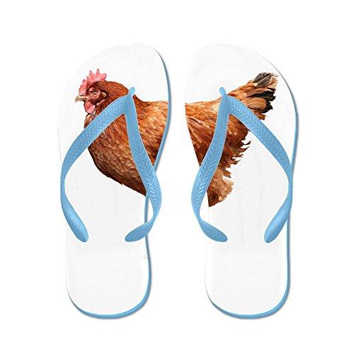 CafePress Red Hen - Flip Flops, Funny Thong Sandals, Beach Sandals Caribbean Blue