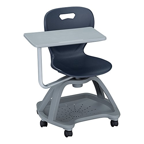 Learniture Shape Series Mobile Tablet Arm Chair With Book.