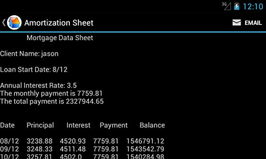 amazon com mortgage calculator and loan appstore for android