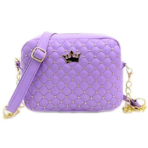 Design de One Mujeres Lavender Bolsas Lavender Hombro Mujeres Crossbody Rivet Chain Bag Size Hq7wUfqI