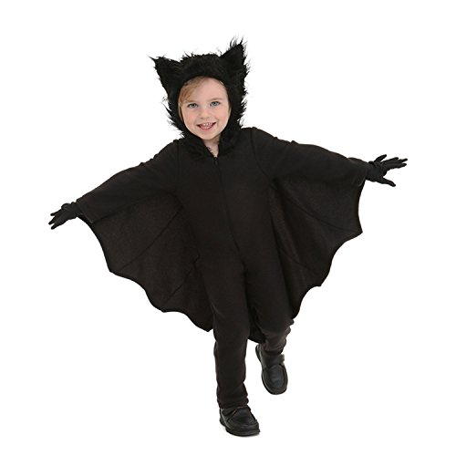(Halloween Bat Costumes for Kids with Gloves and Connect Wing)