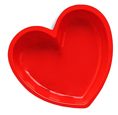 Creative Converting Red Heart Plastic Shaped Tray ()