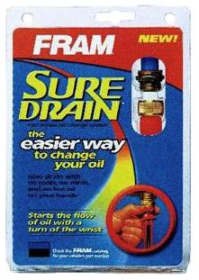 FRAM SD5 SureDrain Fast Access Oil Change Drain Plug System