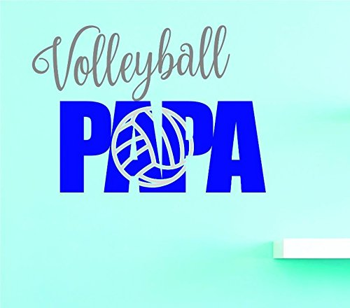 Multi 10 x 20 Design with Vinyl US V JER 3959 1 Top Selling Decals Volleyball Papa Wall Art Size 10 Inches X 20 Inches Color