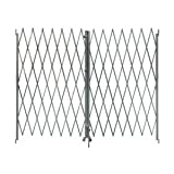 Industrial Grade 2XZG6 Steel Folding Gate, Opening 8-10Ft