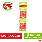 Scotch-Brite Lint Roller Refill, 2 Pack, 65 Sheets/Refill, Replacement for Refillable Lint Brush