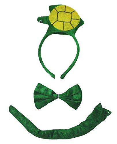 Petitebella 3D Headband Bowtie Tail Unisex Children 3pc Costume (3D Turtle) ()