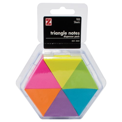 advantus-triangle-sticky-notes-900-sheets-total-6-assorted-neon-colors-z22191