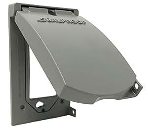 Sealproof 1 gang vertical weatherproof outdoor metal flat - Sealing exterior electrical boxes ...