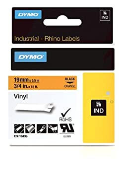 24 mm x 5.5 m wei/ß//braun Dymo Rhino Band Industrie Vinyl