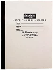 Sargent Art 23-1532 24-Sheet Soft Cover Composition Book