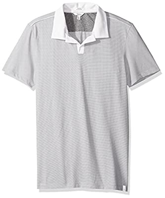 Calvin Klein Men's Slim Fit Short Sleeve Liquid Jersey Polo Shirt