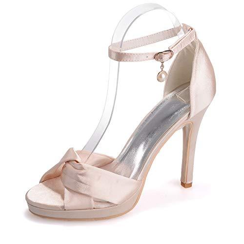 pompe piattaforma da sandali da Zxstz sera promenade da sposa Champagne alti di vestito di sera scarpe Ladies scarpe Peep partito Toe tacchi Rw4x8qTR7