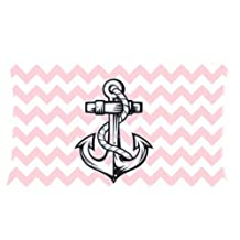 Anchor pillow case New Style Pink White Chevron Anchor Pillow cases 150 Thread Count,20x36 inches (Two Sides )
