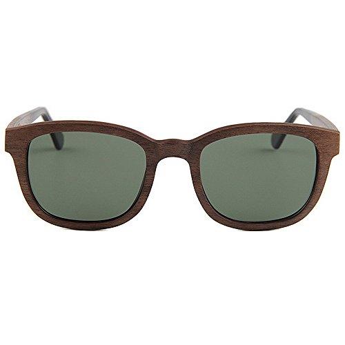 de Gafas para polarizadas Gafas alta de conducción hechas Protección a sol de UV mano de de hombre sol ligero Ultra calidad sol Gafas sol de madera Gris para de Color hombre de Marrón Gafas playa qt5qf8B