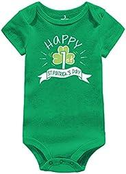 Amberetech Infant Green Bodysuit 1st St. Patrick's Day Gift Baby Irish Charm Romper Newborn Jumpsuit Ou