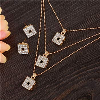 Price comparison product image Austrian Crystal Golden Plated Jewerly Sets For Women Cat's Eye Stones Jewelry Set African Necklace Earrings Jewellery Set F390