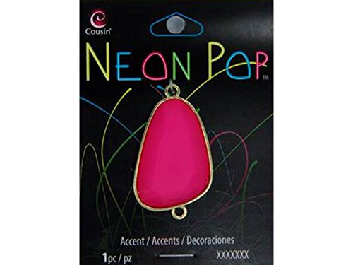 Cousin COU30214570 Connector Irregular Pink Neon Pop Collection