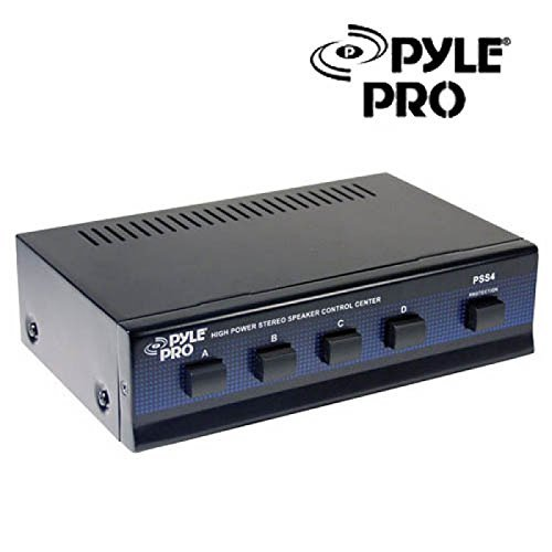 (Great Value Pro Audio Equipment PYLE PSS4 High Power Stereo Speaker Selector 4 Channels Home Audio)