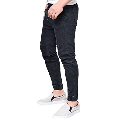 Realdo Mens Skinny Jeans, Stretchy Slim Fit Denim Pants Casual Long Straight Trousers (Black,Small) by Realdo