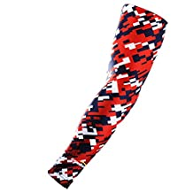 COOLOMG (One Piece) Youth Adult Compression Arm Sleeve UV Protection Basketball Baseball Running 6 Color XXS-XL