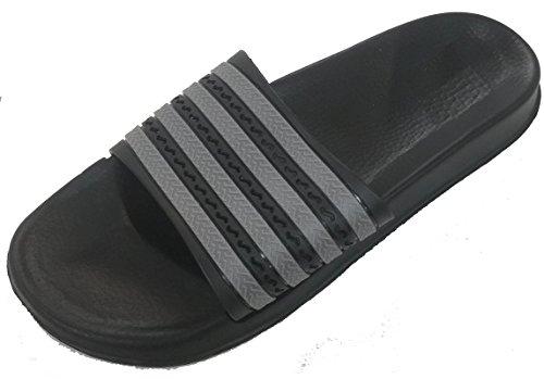 Gear One Mens Rubber Sandal Slipper Comfortable Shower Beach Shoe Slip On Flip Flop Grey qeJeAQsn