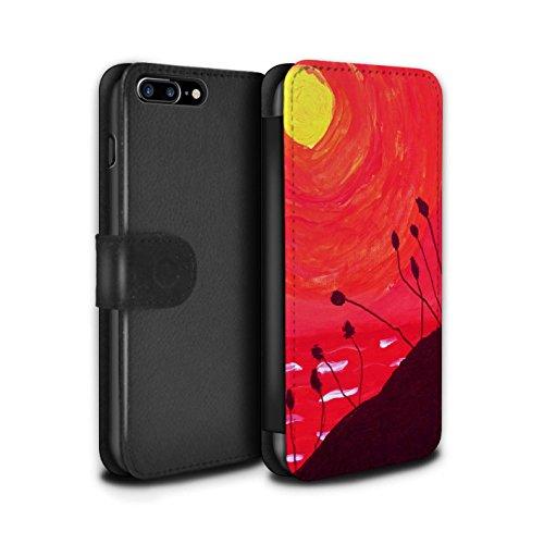 Stuff4 Coque/Etui/Housse Cuir PU Case/Cover pour Apple iPhone 7 Plus / Rouge Design / Peinture Huile Coucher Collection