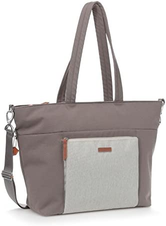 Hedgren Perfection Large Travel Tote Bag, Detachable Shoulder Strap, 19 x 4.9 x 12.4 Inches, Womens, Taupe