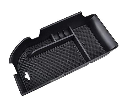 (Salusy Center Console Armrest Storage Box Insert Organizer Tray Compatible with Toyota Camry 2018 2019)