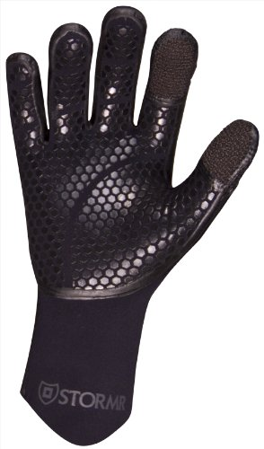 Stormr Typhoon Kevlar Neoprene Women and Men's  Gloves - Insulated Gloves with Micro-Fleece Lining and Hi-Grip Palms - Flexible and Protective Design - Liquid Taped Seams, Kevlar Black, XL by STORMR (Image #2)