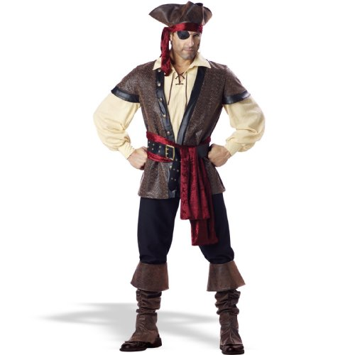 InCharacter Costumes Men's Rustic Pirate Costume, Tan/Brown, Large by Fun World