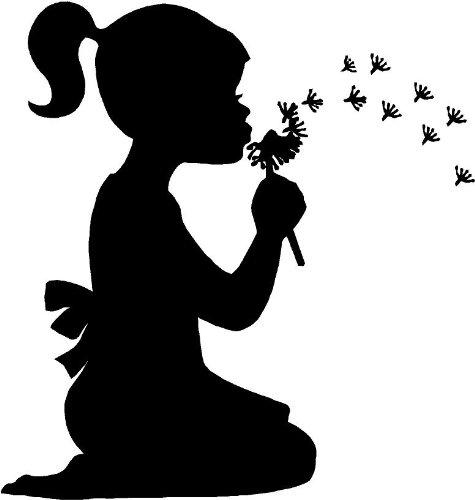 Little girl blowing dandelions wall art wall designs, Baby & Kids Zone