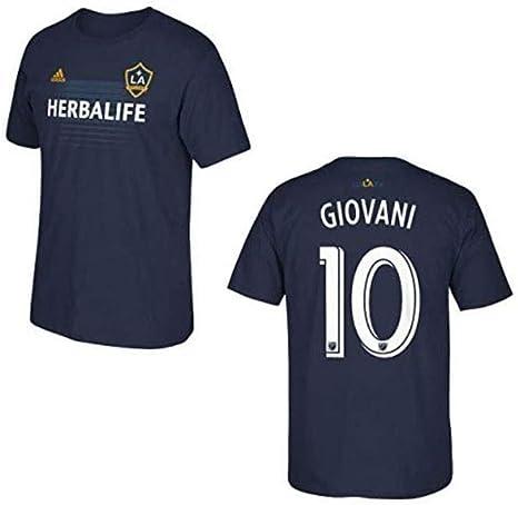 adidas La Galaxy Giovani Dos Santos Azul Nombre y número Camiseta, Azul Marino: Amazon.es: Deportes y aire libre