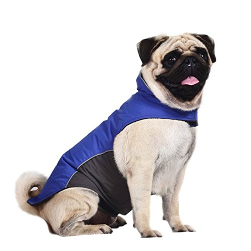 Dog Cold Weather Coat Waterproof 100% Polyester- Fleece - Cold Weather Coats For Dogs