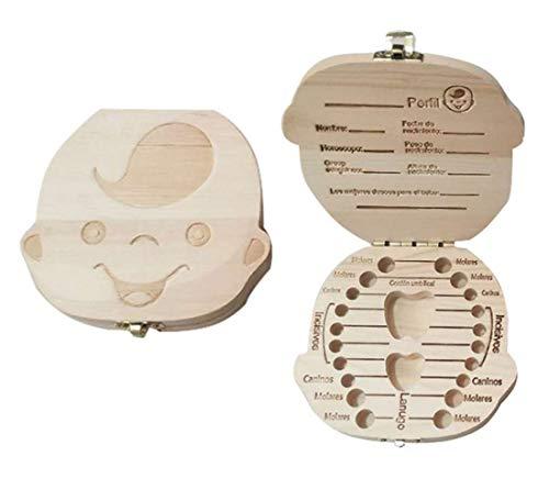 - Mvchif Tooth Holder Baby Keepsake Box Wooden Child Deciduous Collection Album Organizer Gift for Girls (Boy)