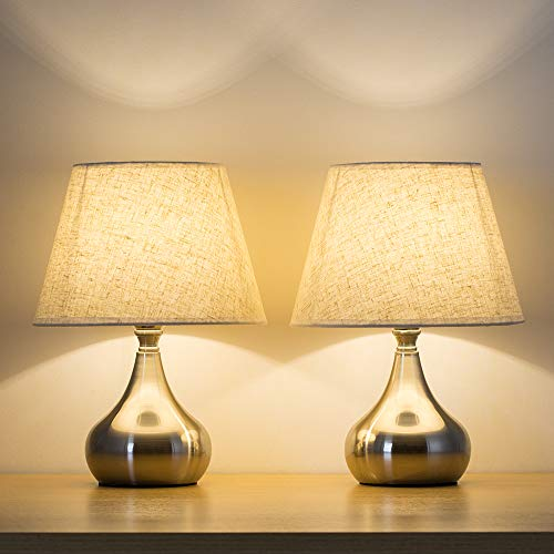 Haitral Bed Side Table Lamps Set Of 2 Unique Modern