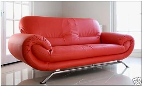 Divano Rosso Ecopelle : New florence 3 posti moderno in ecopelle future grande divano rosso