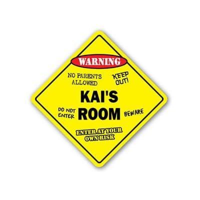 KAI'S ROOM Sticker Sign kids bedroom decor door children's name boy girl gift - Sticker Graphic Personalized Custom Sticker Graphic: Automotive