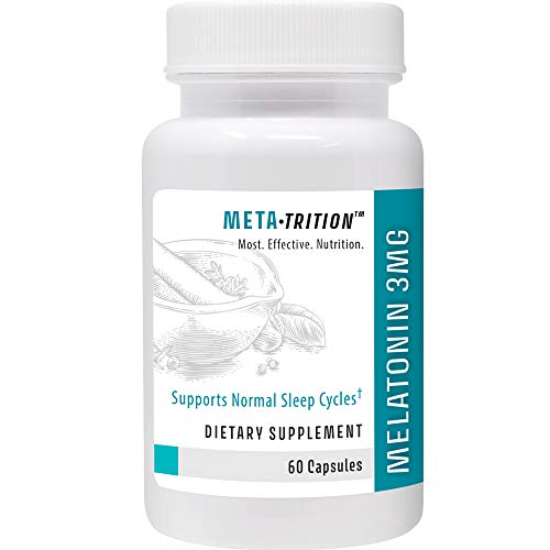 Metatrition Melatonin 3mg Nutritional Supplements, 60 Count
