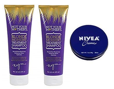 Not Your Mother's 2 Pack Blonde Moment Treatment Shampoo 8 Oz.+ Travel Size Body Cream 1 Oz. by Not Your Mother's