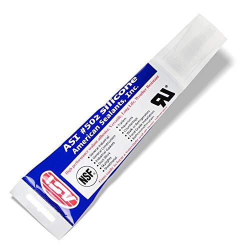 Silicone Sealant 100% RTV – 2.8 oz Squeeze Tube -Clear-