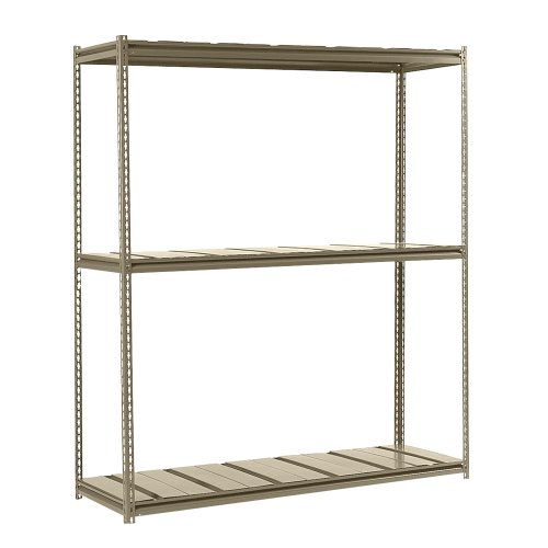 Edsal RMS72363 Steel Mid-Profile Rivet Lock Ultimate Heavy Load Carrying Boltless Shelving with Steel Deck and 3 Levels, 1000 lbs Capacity, 72