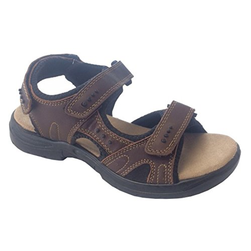 Stone Creek Mens Lädersport Sandal Brun