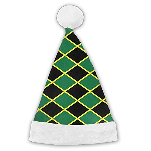 Traditional Irish Costumes (Seasonlogo Jamaican Flag Stripe Caribbean Island Traditional Plush Christmas Santa Hat Costume Holiday Hats For Dinner Table Cutlery Holders)