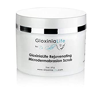 GloxiniaLife Rejuvenating Microdermabrasion Scrub- Acne and Acne Scar Treatment, Pore Minimizer Blackhead Remover – Anti Aging, Anti Wrinkle, Promotes Youthful Radiant Skin, 2 oz